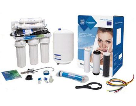Filtru de apa purificator cu osmoza inversa FARO7PMUV cu pompa Booster, cu cartus de remineralizare si lampa UV.
